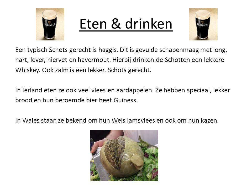 Eten & drinken Een typisch Schots gerecht is haggis.