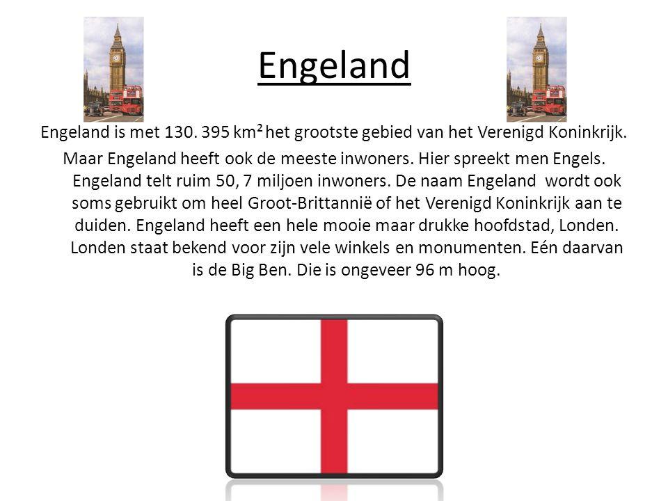 Engeland Engeland is met 130.395 km² het grootste gebied van het Verenigd Koninkrijk.