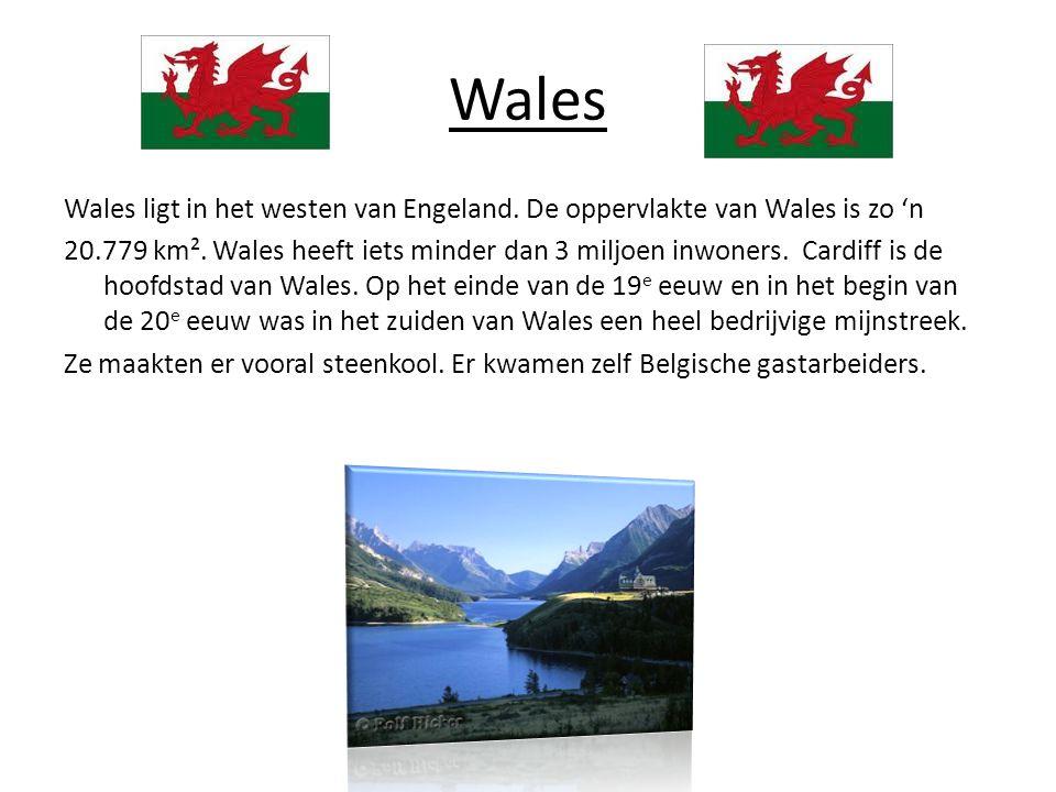 Wales Wales ligt in het westen van Engeland.De oppervlakte van Wales is zo 'n 20.779 km².