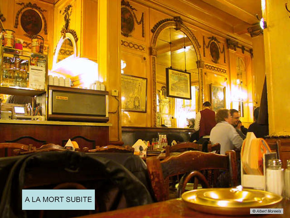 Oude cafés in Brussel A LA MORT SUBITE
