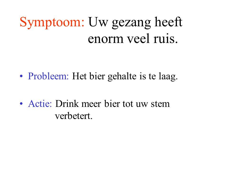 Symptoom: U herkent niemand en ook de kamer niet.