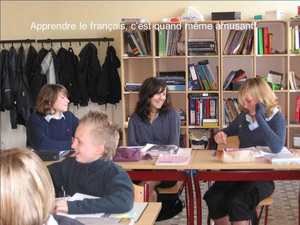 Apprendre le français, c'est quand même amusant!