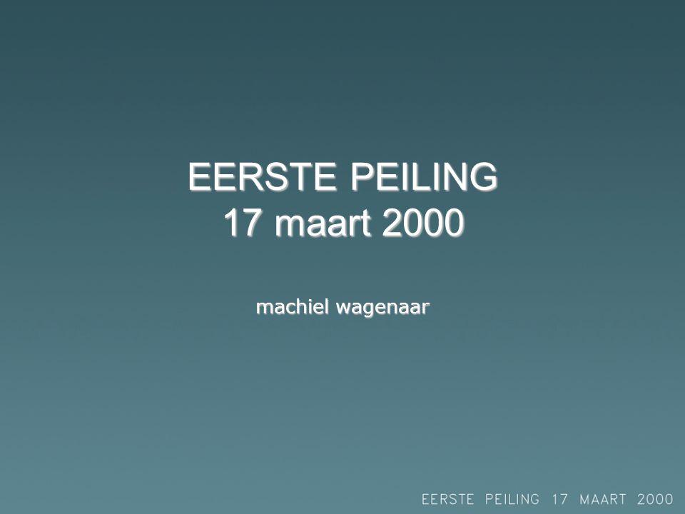EERSTE PEILING 17 maart 2000 machiel wagenaar