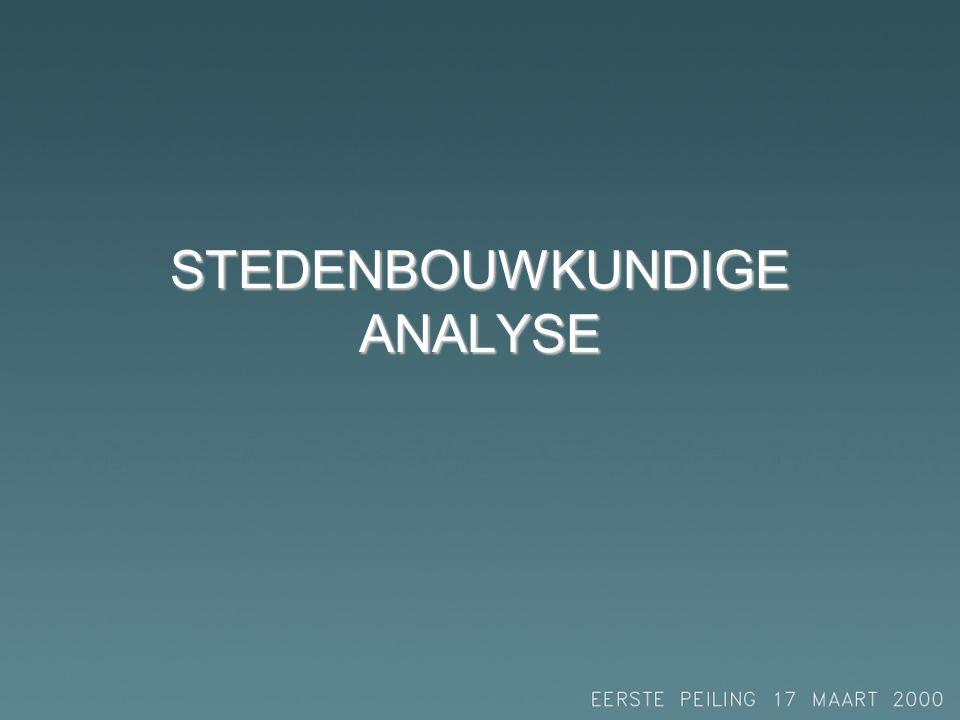 STEDENBOUWKUNDIGE ANALYSE