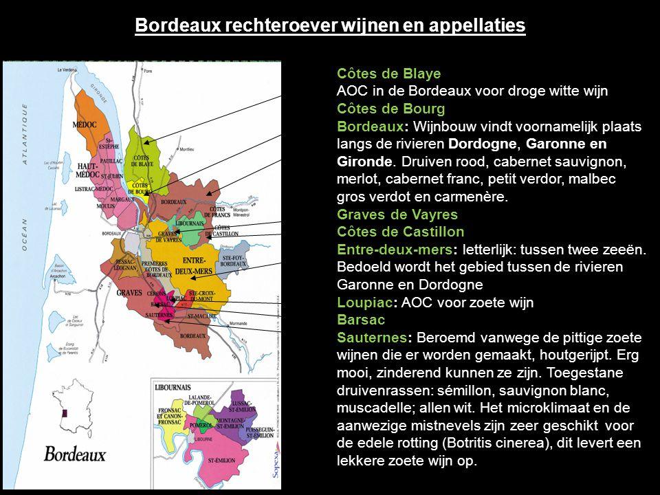 Médoc In de Médoc bestaan twee regionale appellaties: Haut-Médoc en Médoc en 6 gemeente-appellaties: St. Estèphe Pauillac Haut–Médoc St. Julien Listra