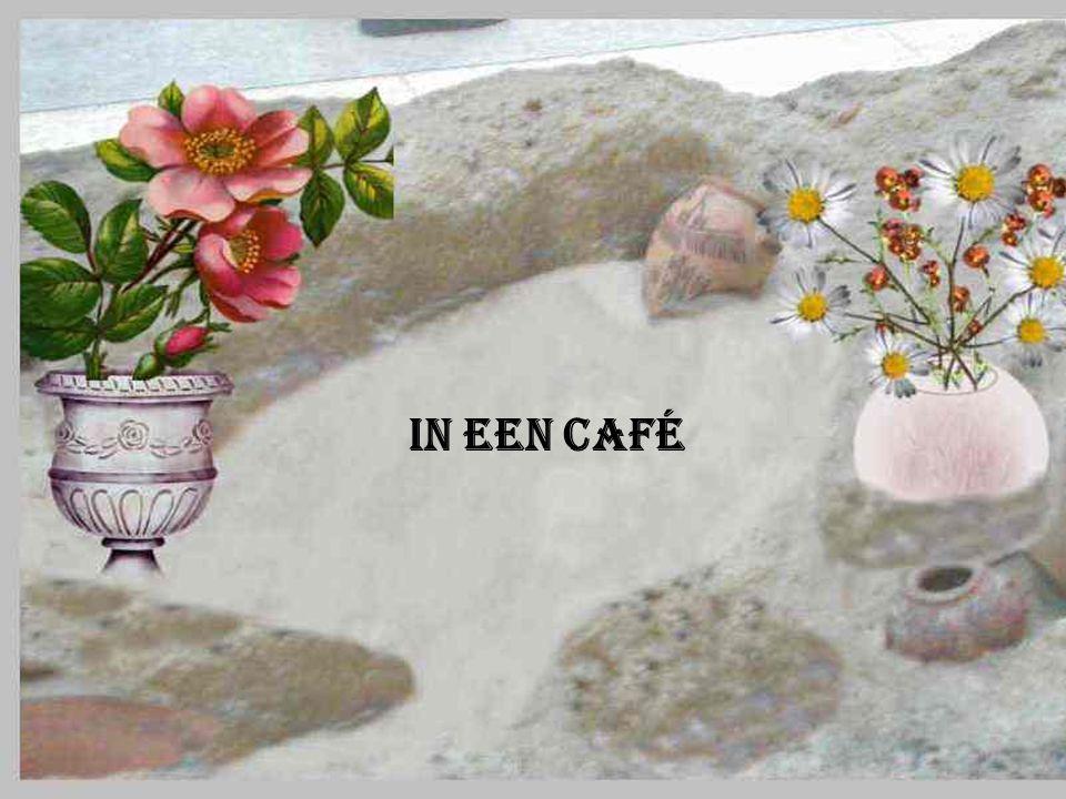 In een café