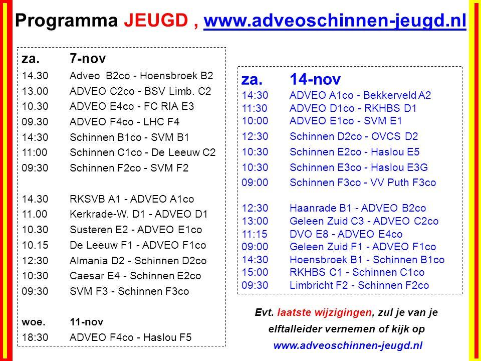 Programma JEUGD, www.adveoschinnen-jeugd.nl za.