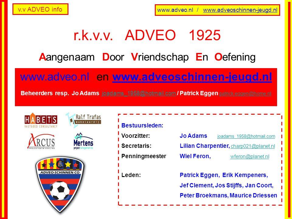 v.v ADVEO info www.adveo.nl / www.adveoschinnen-jeugd.nl - Deze v.v.