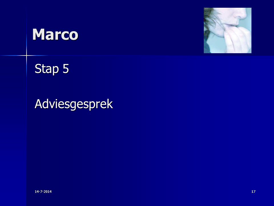 Marco Stap 5 Adviesgesprek 14-7-201417