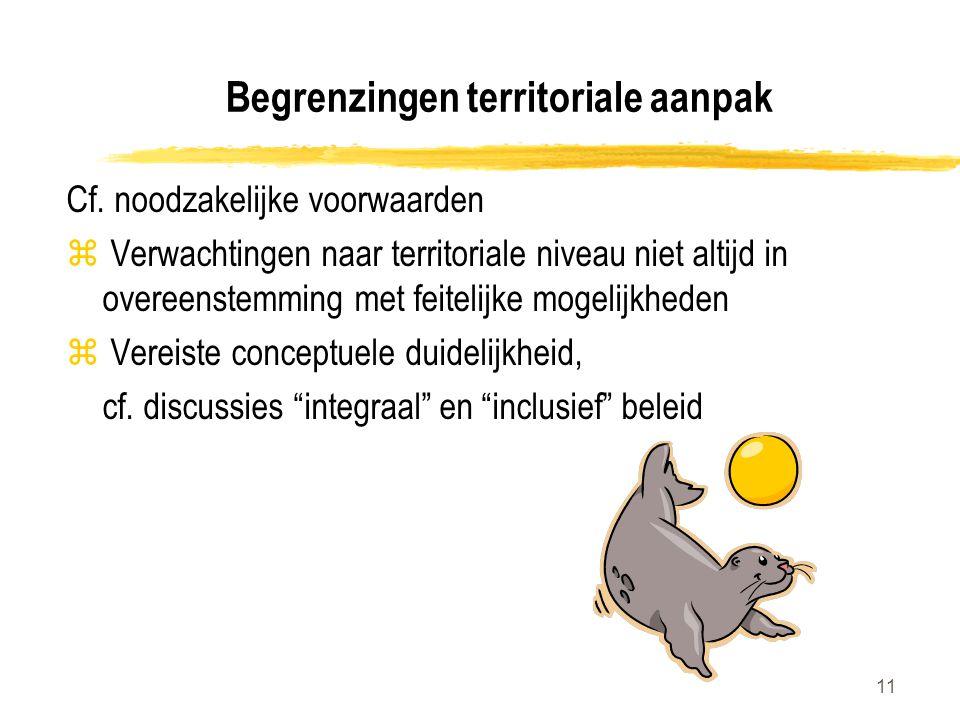 11 Begrenzingen territoriale aanpak Cf.