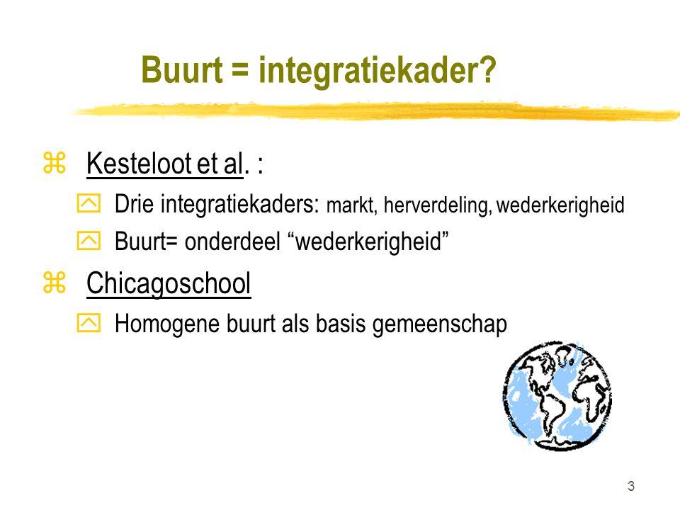 3 Buurt = integratiekader.zKesteloot et al.