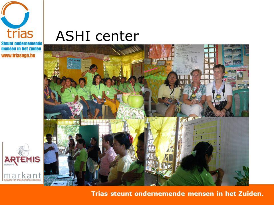 Trias steunt ondernemende mensen in het Zuiden. ASHI center