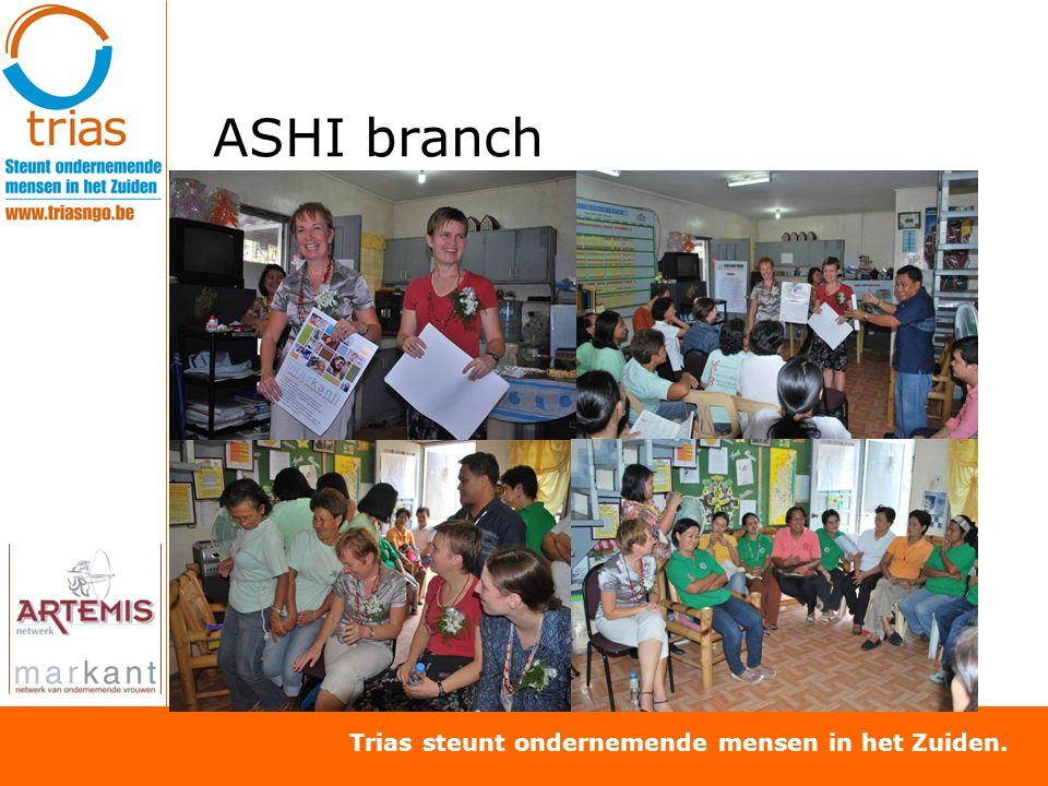 Trias steunt ondernemende mensen in het Zuiden. ASHI branch