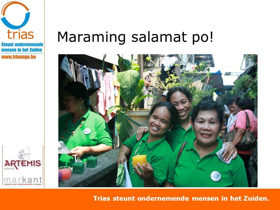 Trias steunt ondernemende mensen in het Zuiden. Maraming salamat po!