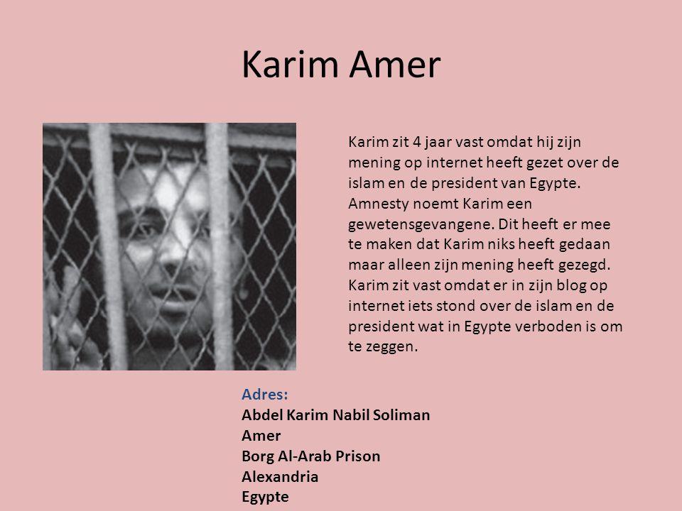 Karim Amer Karim zit 4 jaar vast omdat hij zijn mening op internet heeft gezet over de islam en de president van Egypte.