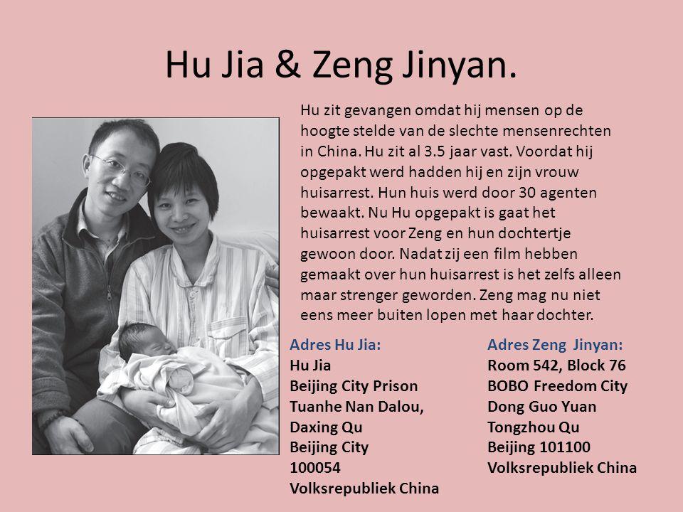 Hu Jia & Zeng Jinyan.