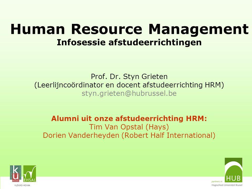 VLEKHO-HONIM Afstudeerrichting HRM Met HRM zit je goed.