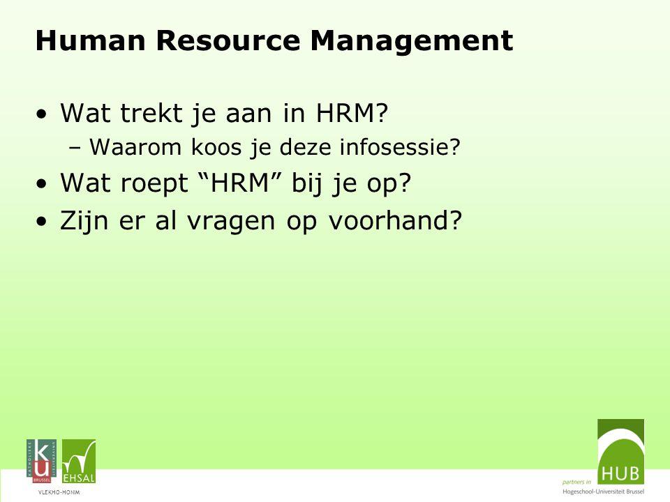VLEKHO-HONIM HRM: een paar flitsen uit de actualiteit HRM is hot.