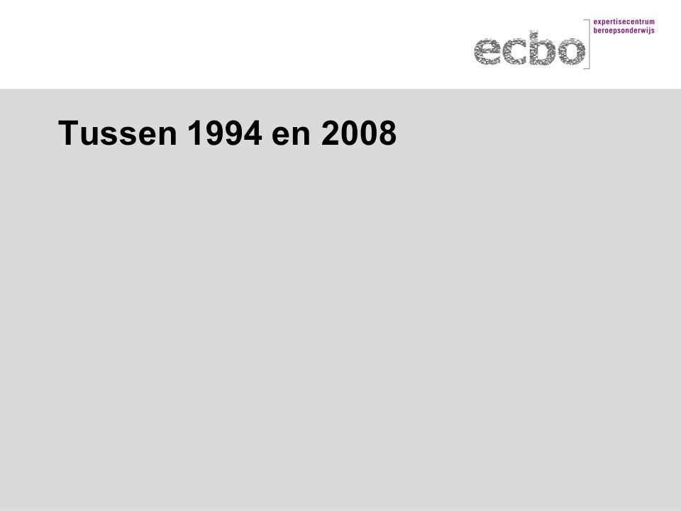 Tussen 1994 en 2008