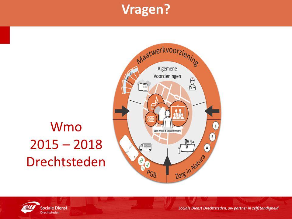 Vragen? Wmo 2015 – 2018 Drechtsteden