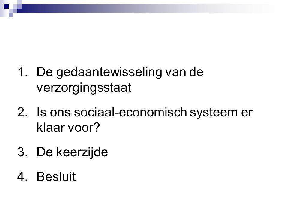 1.De gedaantewisseling van de verzorgingsstaat 2.Is ons sociaal-economisch systeem er klaar voor? 3.De keerzijde 4.Besluit