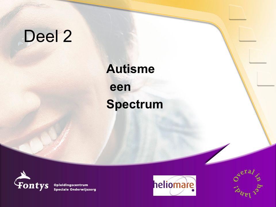 Deel 2 Autisme een Spectrum