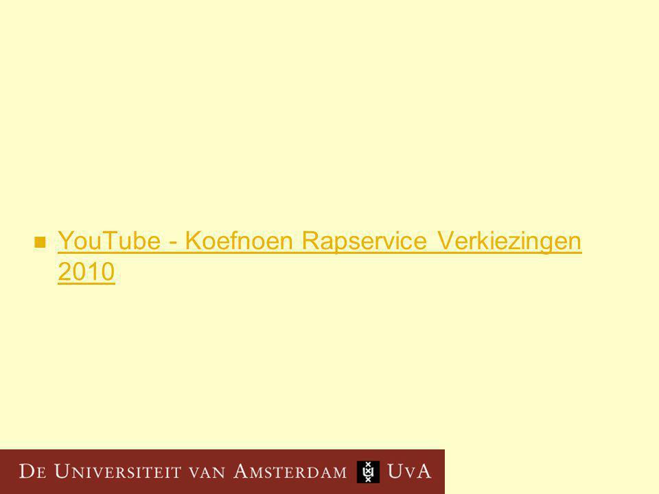 YouTube - Koefnoen Rapservice Verkiezingen 2010 YouTube - Koefnoen Rapservice Verkiezingen 2010