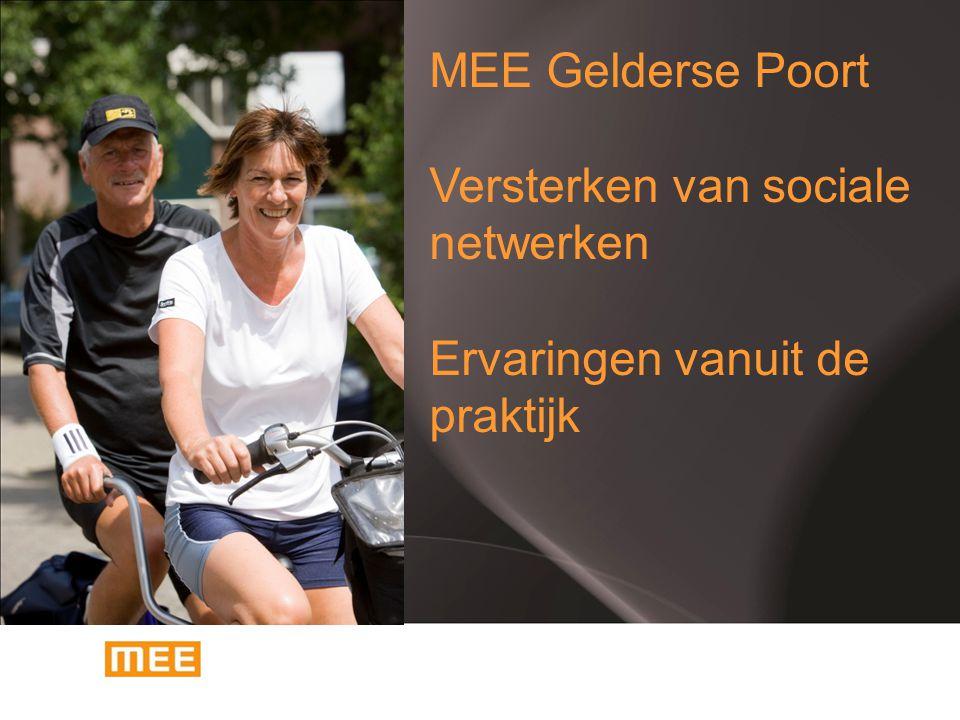 MEE Gelderse Poort Versterken van sociale netwerken Ervaringen vanuit de praktijk MEE Gelderse Poort