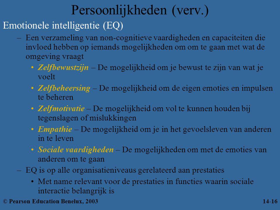 Emotionele intelligentie (EQ) –Een verzameling van non-cognitieve vaardigheden en capaciteiten die invloed hebben op iemands mogelijkheden om om te ga