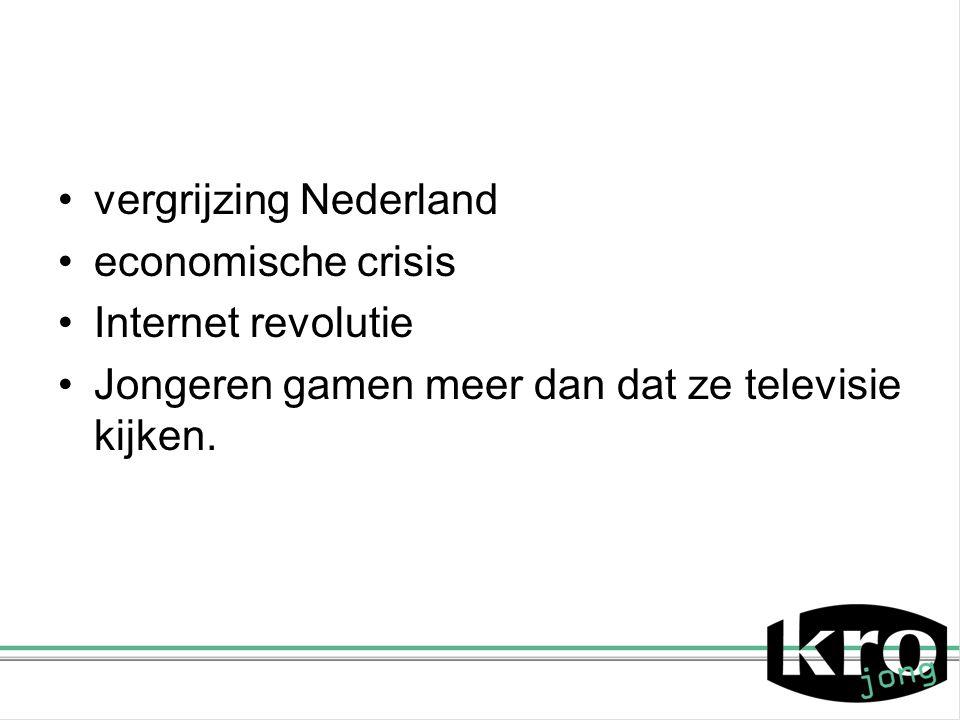 vergrijzing Nederland economische crisis Internet revolutie Jongeren gamen meer dan dat ze televisie kijken.