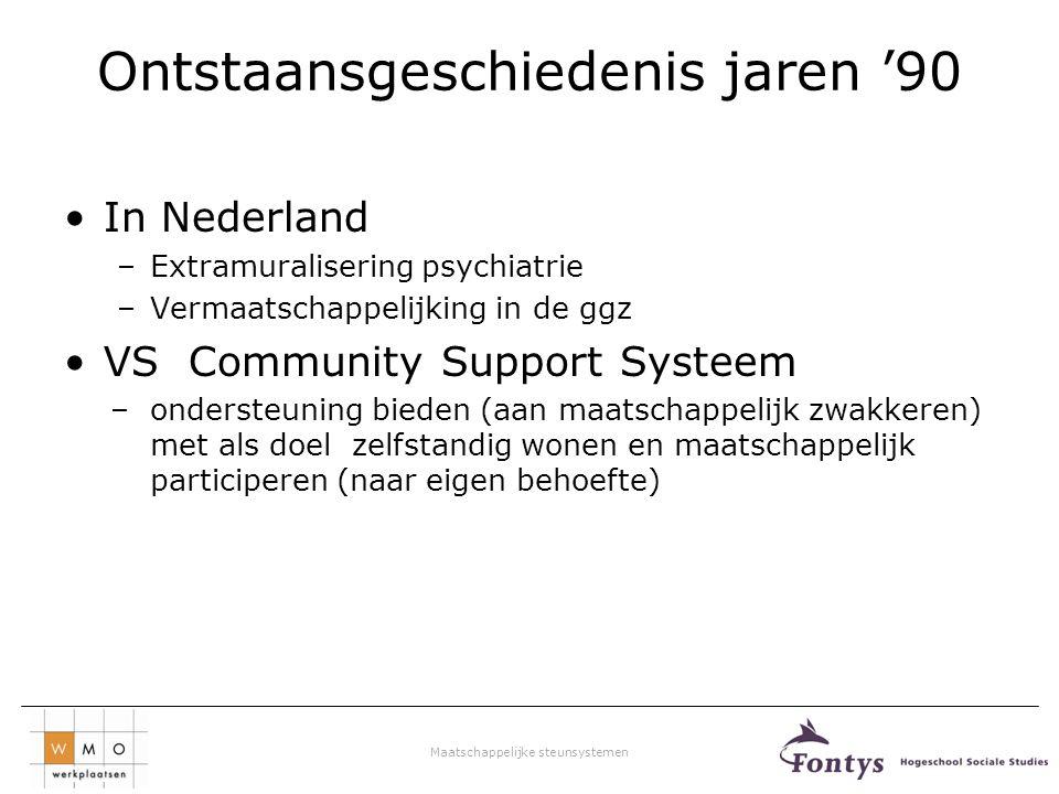Maatschappelijke steunsystemen Doelgroep van de GGZ Nederland kent ongeveer 160.000 personen met psychische problemen.