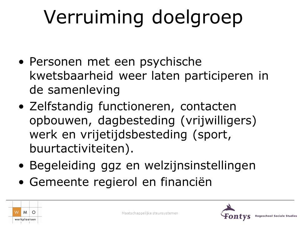 Maatschappelijke steunsystemen Bijeenkomst 2 Verschijningsvormen