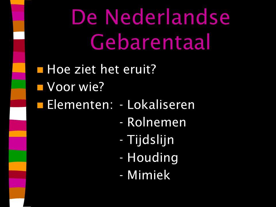 De Nederlandse Gebarentaal Hoe ziet het eruit.Voor wie.
