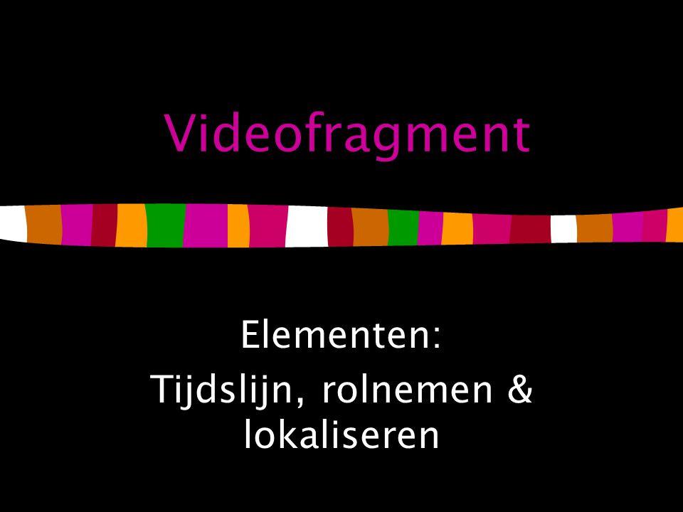 Videofragment Elementen: Tijdslijn, rolnemen & lokaliseren