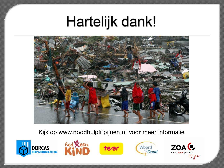 Kijk op www.noodhulpfilipijnen.nl voor meer informatie