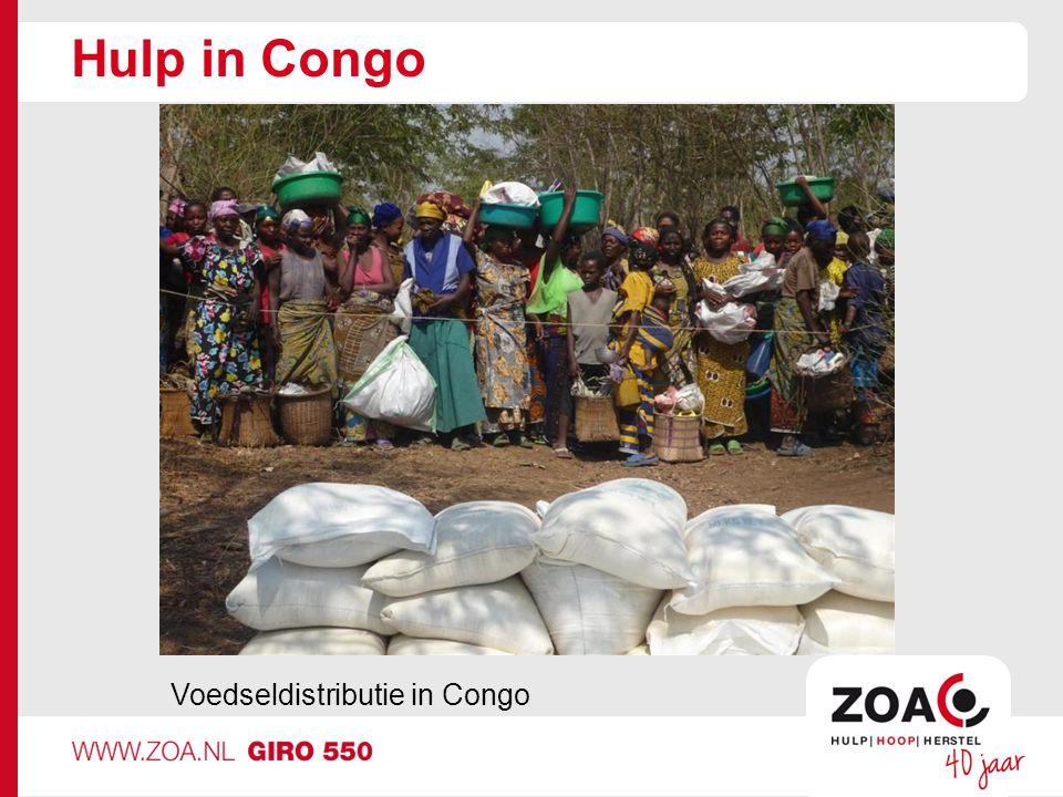Hulp in Congo Voedseldistributie in Congo