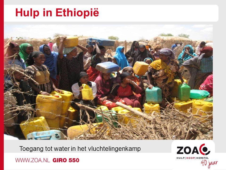 Hulp in Ethiopië Toegang tot water in het vluchtelingenkamp