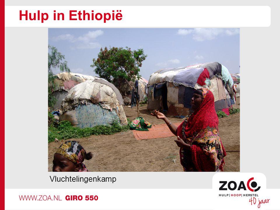 Hulp in Ethiopië Vluchtelingenkamp