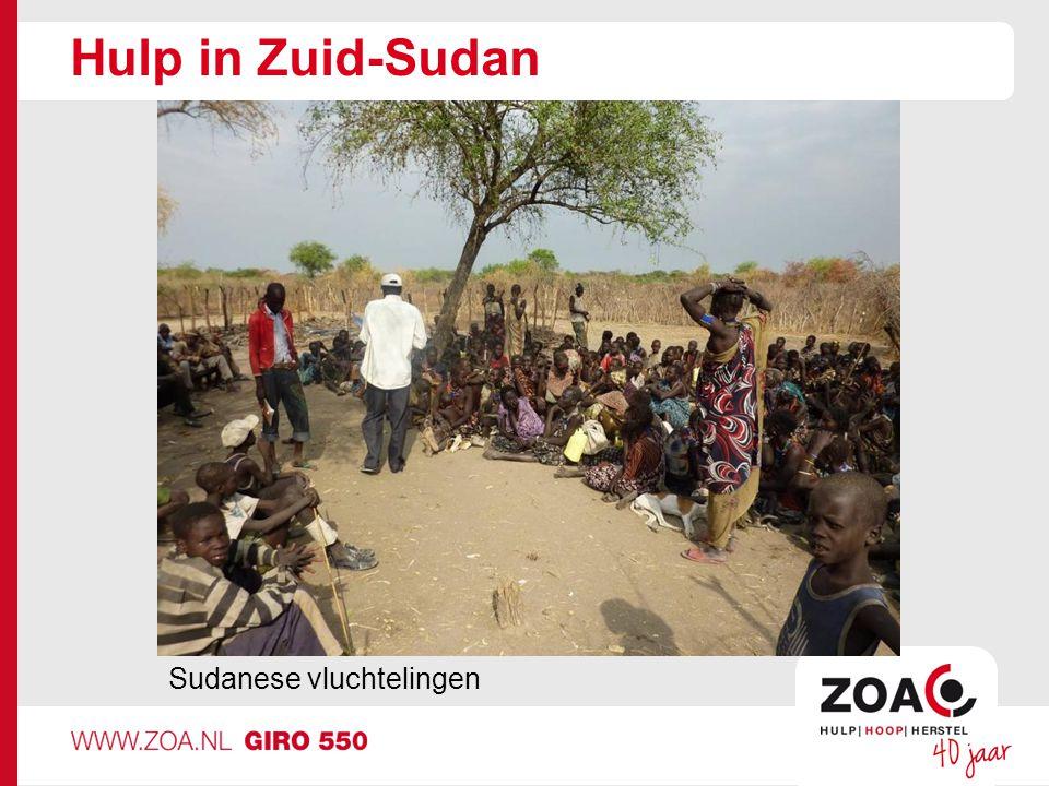 Hulp in Zuid-Sudan Sudanese vluchtelingen