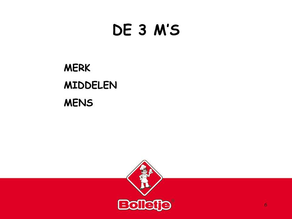6 DE 3 M'S MERK MIDDELEN MENS