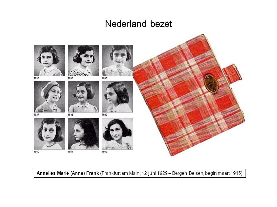 Annelies Marie (Anne) Frank (Frankfurt am Main, 12 juni 1929 – Bergen-Belsen, begin maart 1945)