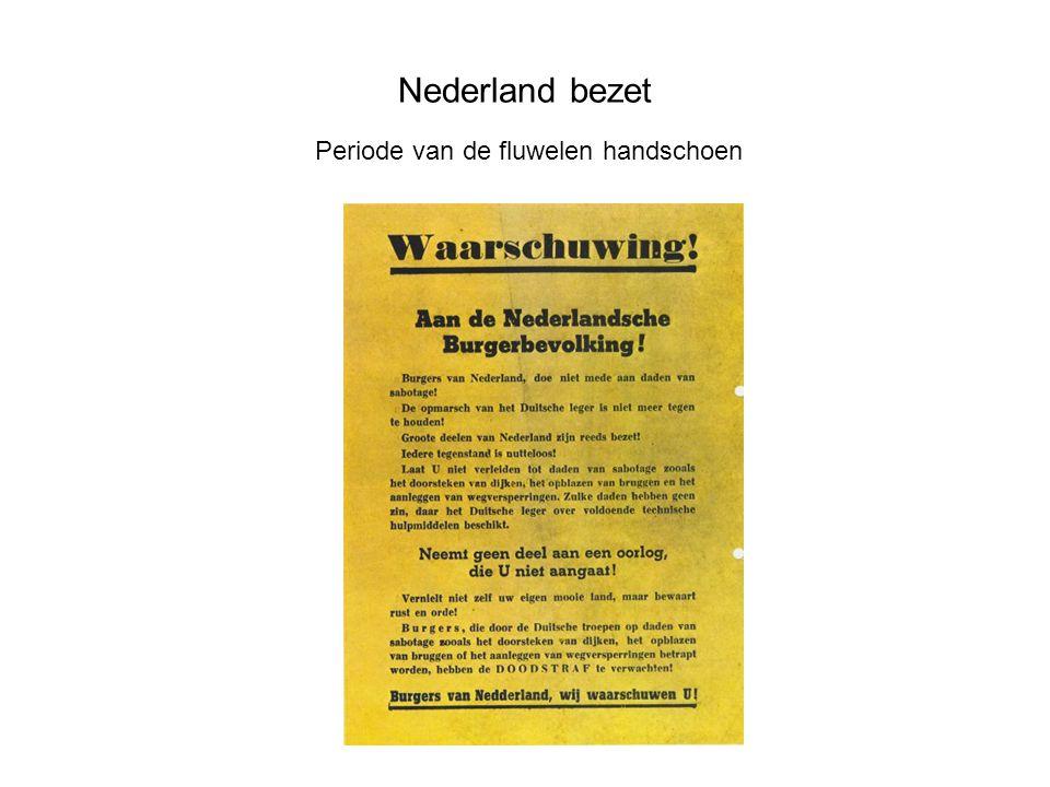 Nederland bezet gelijkschakeling Nederland werd een totalitaire staat -Censuur -Verbod politieke partijen -Verbod vakbonden -Ausweis -Offers voor Duitsland
