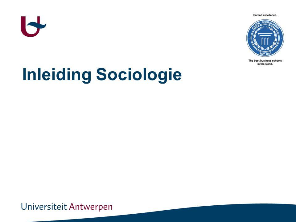 Inleiding Sociologie