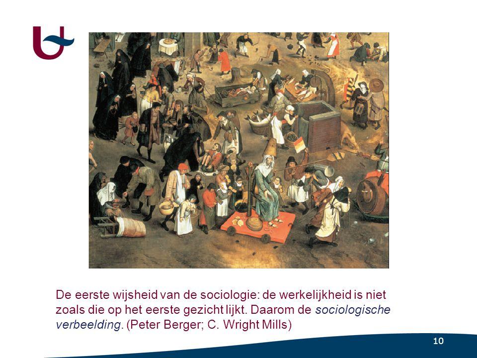10 De eerste wijsheid van de sociologie: de werkelijkheid is niet zoals die op het eerste gezicht lijkt.