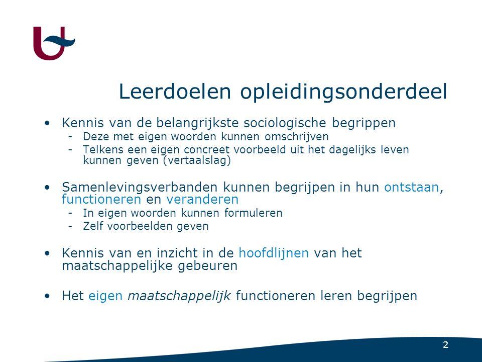 Deel 1 Sociologie, een wetenschap van de samenleving