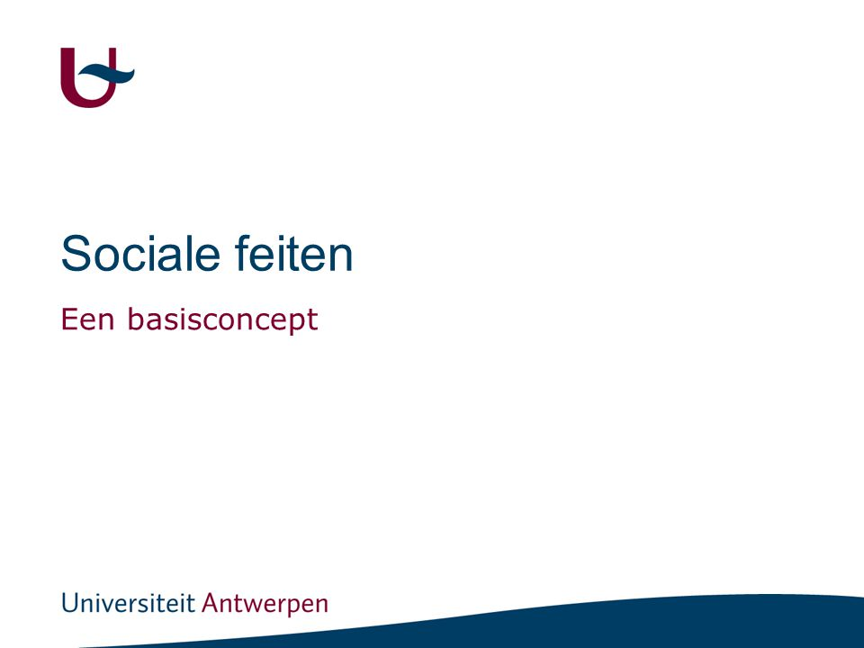 Sociale feiten Een basisconcept