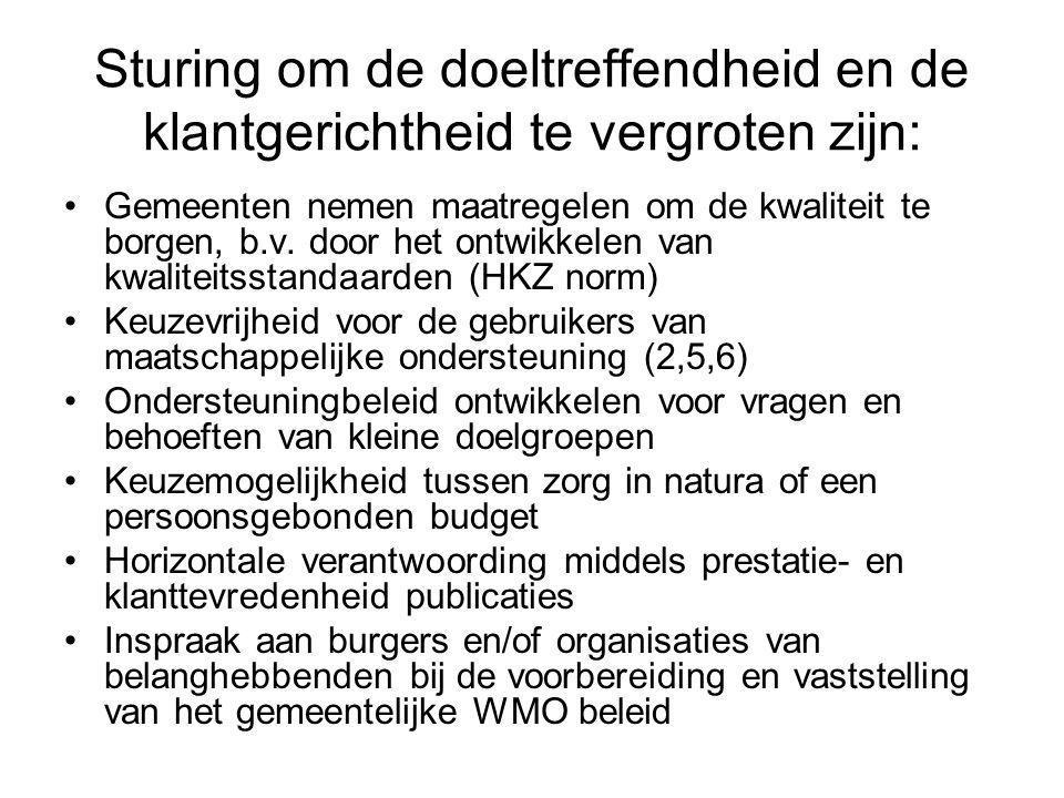 Decentralisatiewet De WMO is een decentralisatiewet, d.w.z.