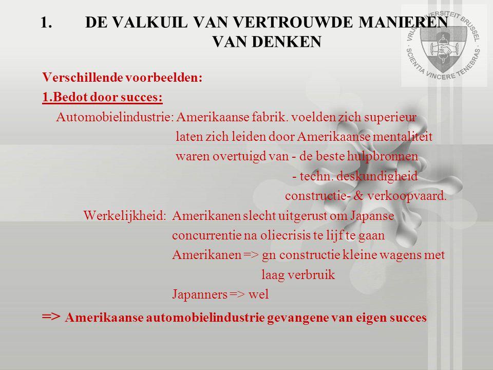 1.DE VALKUIL VAN VERTROUWDE MANIEREN VAN DENKEN 2.