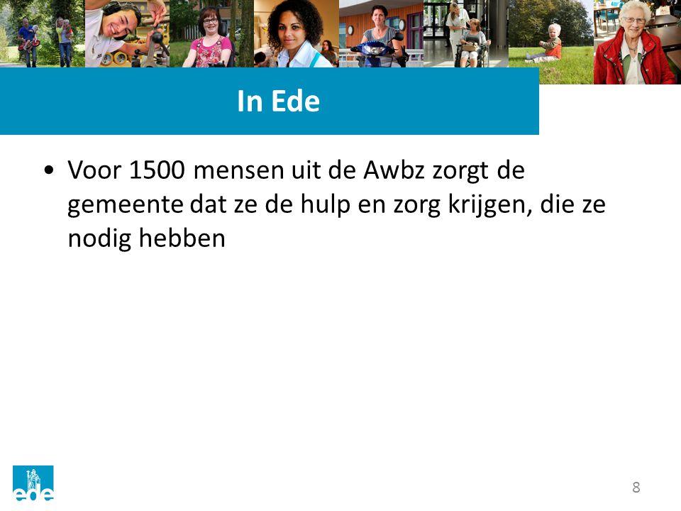 8 In Ede Voor 1500 mensen uit de Awbz zorgt de gemeente dat ze de hulp en zorg krijgen, die ze nodig hebben