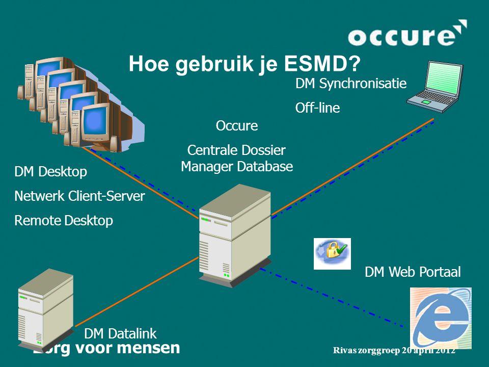 Zorg voor mensen Rivas zorggroep 20 april 2012 Hoe gebruik je ESMD.